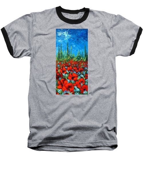Poppie Field Baseball T-Shirt