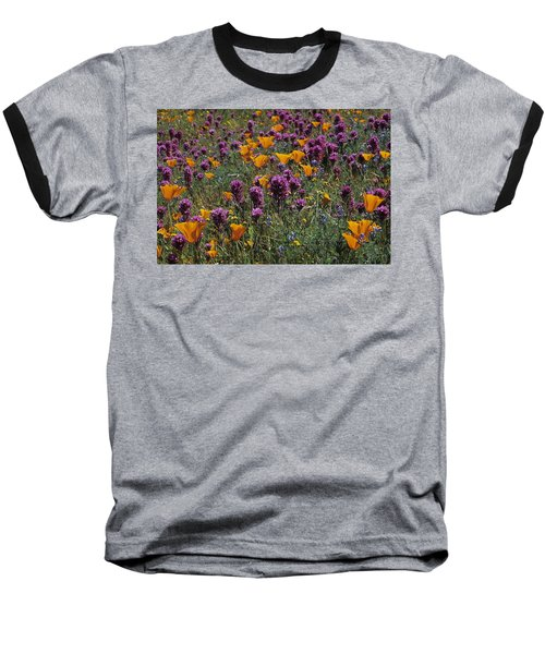 Poppies And Owl Clover Baseball T-Shirt
