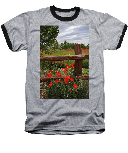 Poppies At The Farm Baseball T-Shirt by Lynn Bauer