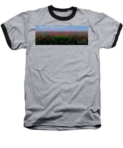 Poppies Field Baseball T-Shirt