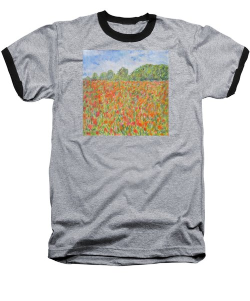Poppies In A Field In Afghanistan Baseball T-Shirt