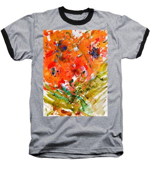 Poppies In A Hurricane Baseball T-Shirt