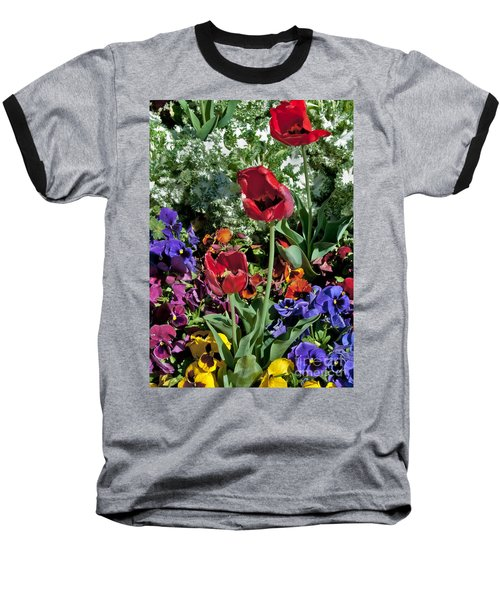 Baseball T-Shirt featuring the photograph Poppies by Mae Wertz