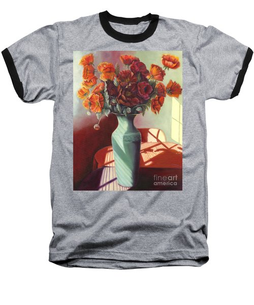 Baseball T-Shirt featuring the painting Poppies by Marlene Book