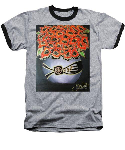 Poppies Revisited.. Baseball T-Shirt