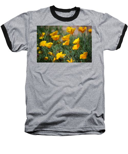 Baseball T-Shirt featuring the photograph Poppies by Tam Ryan