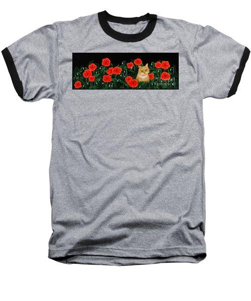 Poppy Cat Baseball T-Shirt