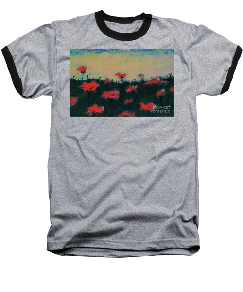 Poppy Field Baseball T-Shirt