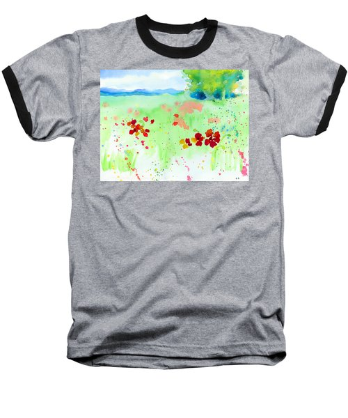 Poppy Passion Baseball T-Shirt