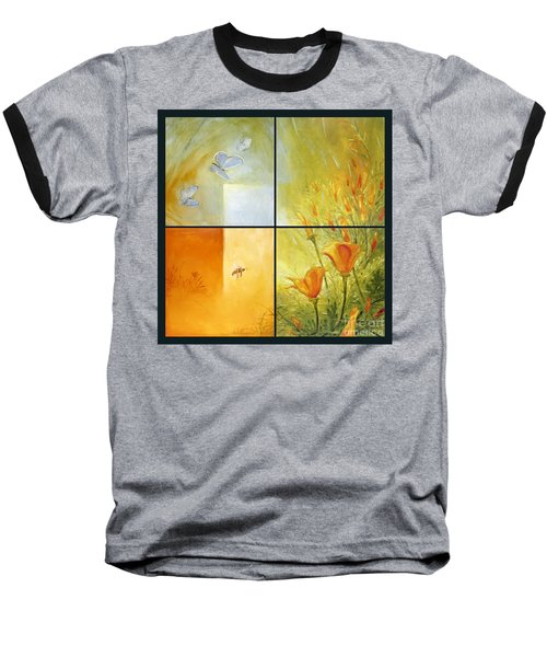 Poppy Pollination Baseball T-Shirt