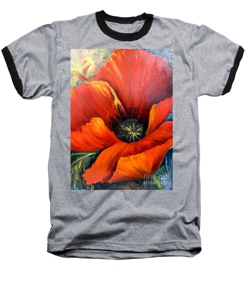 Poppy Red Baseball T-Shirt
