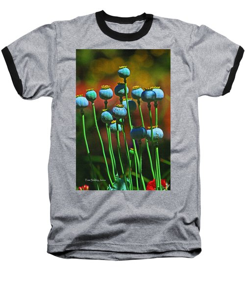 Poppy Seed Pods Baseball T-Shirt by Tom Janca