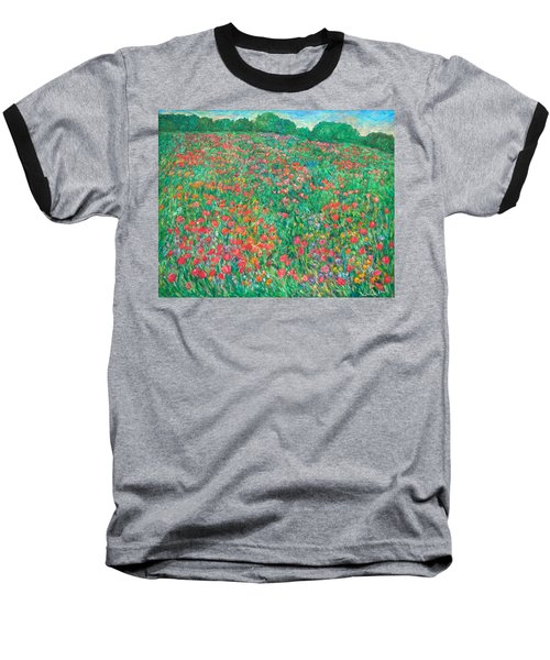 Poppy View Baseball T-Shirt by Kendall Kessler