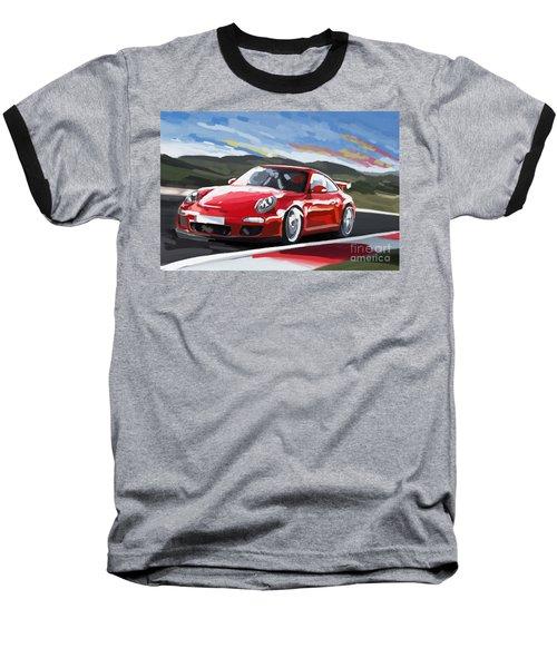 Porsche 911 Gt3 Impressionist Baseball T-Shirt