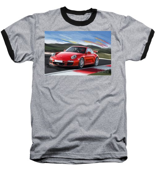Porsche 911 Gt3 Baseball T-Shirt by Tim Gilliland