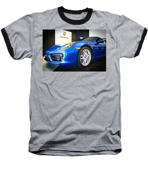 Porsche Cayman S In Sapphire Blue Baseball T-Shirt