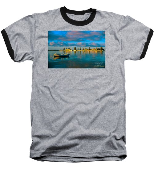 Port Albert Bay Baseball T-Shirt by James  Dierker