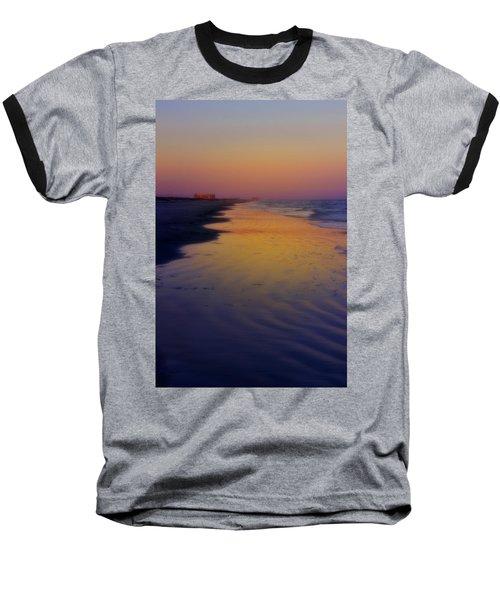 Baseball T-Shirt featuring the photograph Port Aransas Sunset by Ellen Heaverlo