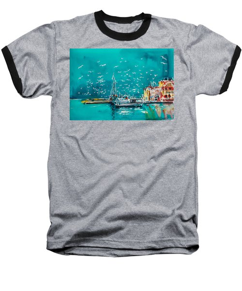 Port Baseball T-Shirt by Kovacs Anna Brigitta