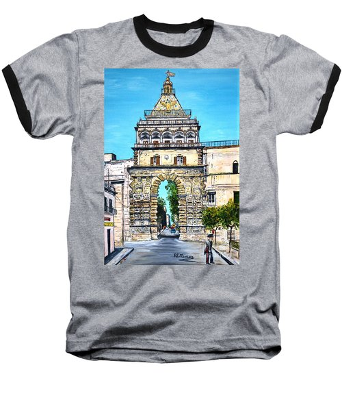 Porta Nuova - Palermo Baseball T-Shirt by Loredana Messina