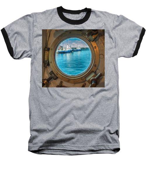 Hmcs Haida Porthole  Baseball T-Shirt