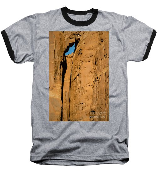Baseball T-Shirt featuring the photograph Portal Through Stone by Jeff Kolker