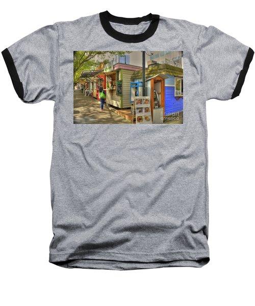 Portland Food Carts Baseball T-Shirt by David Bearden