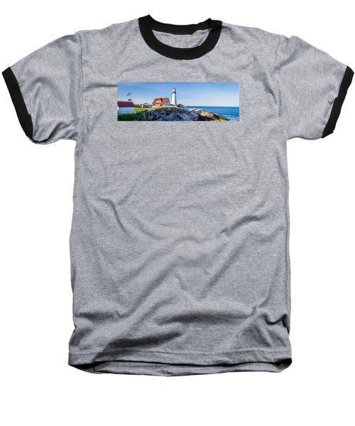 Portland Head Light House Cape Elizabeth Maine Baseball T-Shirt