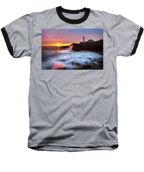Portland Head Sunrise Baseball T-Shirt
