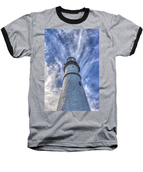 Baseball T-Shirt featuring the photograph Portland Headlight by Jane Luxton