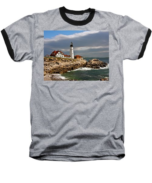 Portland Headlight Baseball T-Shirt by John Haldane