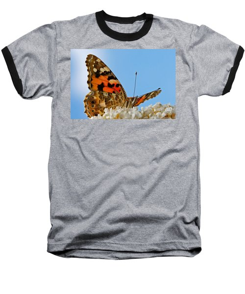 Portrait Of A Butterfly Baseball T-Shirt
