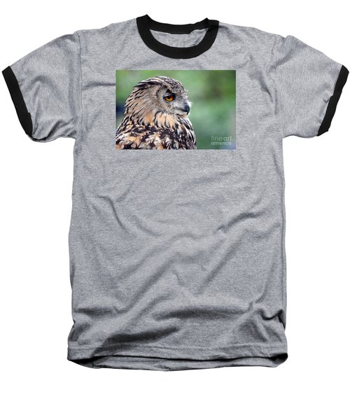 Baseball T-Shirt featuring the photograph Portrait Of A Great Horned Owl by Jim Fitzpatrick