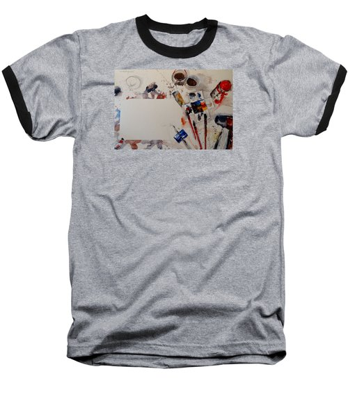Baseball T-Shirt featuring the painting Portrait Of A Master by Sandra Strohschein