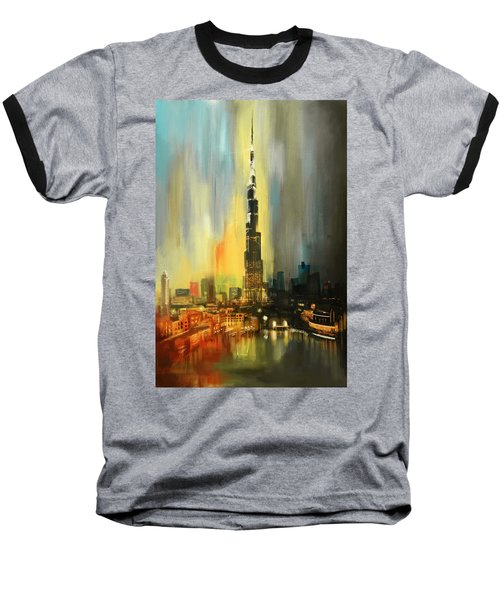 Portrait Of Burj Khalifa Baseball T-Shirt by Corporate Art Task Force