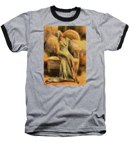 Baseball T-Shirt featuring the digital art Portrait Of Jean Harlow by Charmaine Zoe