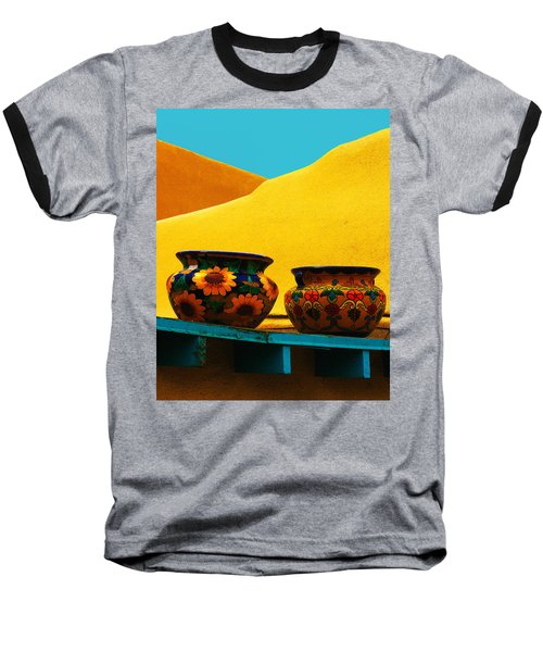 Portrait Of Taos Baseball T-Shirt
