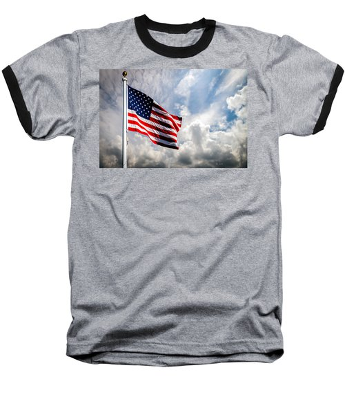 Portrait Of The United States Of America Flag Baseball T-Shirt