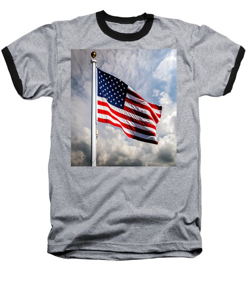 Portrait Of The United States Of America Flag Baseball T-Shirt