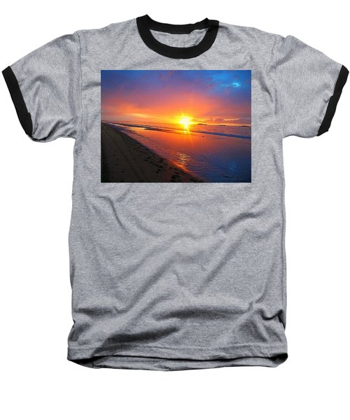 Portrush Sunset Baseball T-Shirt
