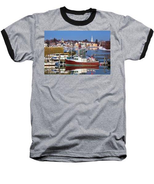 Portsmouth Lobster Boat Baseball T-Shirt