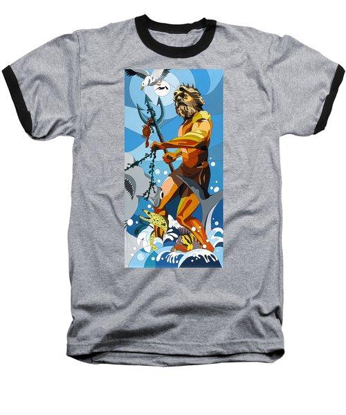 Poseidon - W/hidden Pictures Baseball T-Shirt