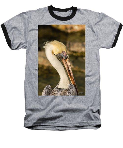 Posing Pelican Baseball T-Shirt