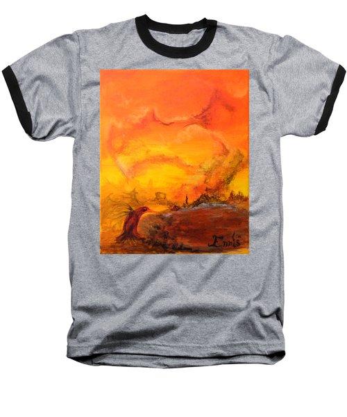 Post Nuclear Watering Hole Baseball T-Shirt