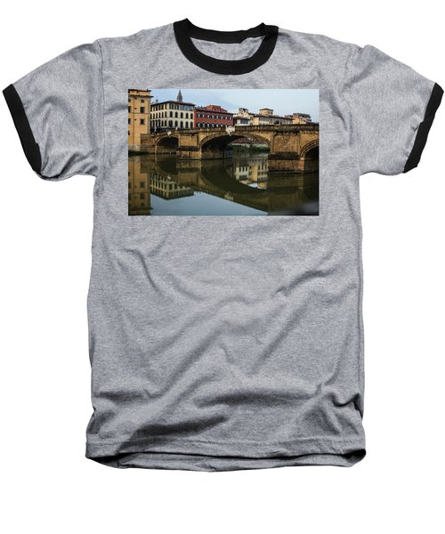 Baseball T-Shirt featuring the photograph Postcard From Florence  by Georgia Mizuleva