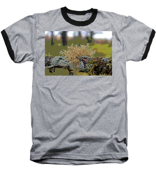 Posterized Antler Lichen Baseball T-Shirt by Cathy Mahnke