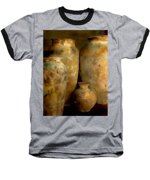 Baseball T-Shirt featuring the painting Pots Of Time by Michael Pickett