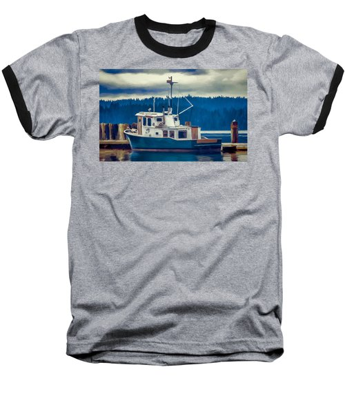 Poulsbo Waterfront 03 Baseball T-Shirt by Wally Hampton