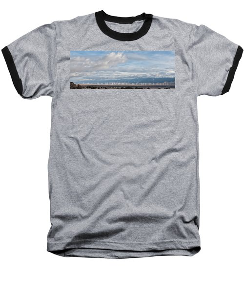 Baseball T-Shirt featuring the photograph Power From The Wind In Western Skies by Michael Flood