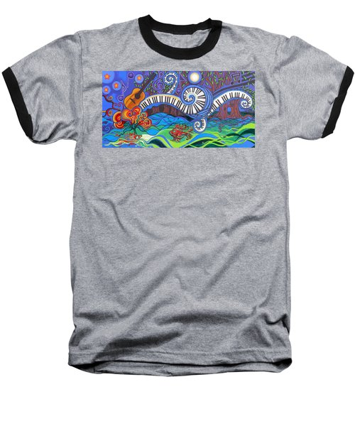 Power Of Music II  Baseball T-Shirt by Genevieve Esson
